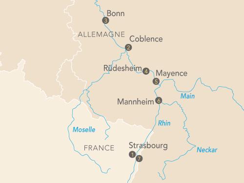 Itinéraire de Le Rhin en musique