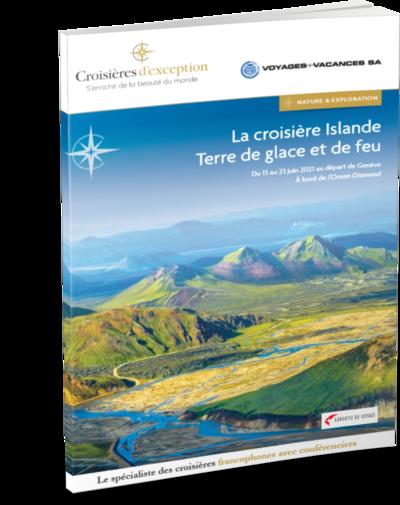 Brochure La croisière Islande, terre de glace et de feu au départ de Genève 3D