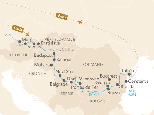 Itinéraire de Du Danube à la mer noire : dans le sillage de Mozart