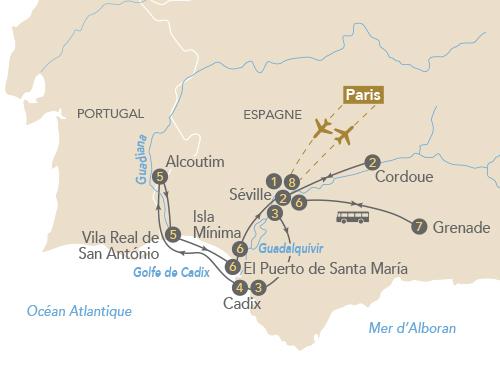 Itinéraire de Au fil de l'art sur le Guadalquivir