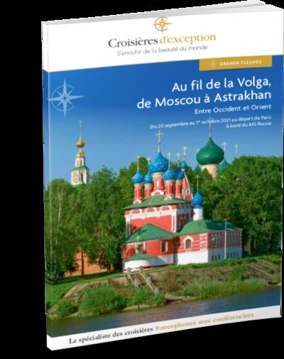 Brochure Au fil de la Volga, de Moscou à Astrakhan 3D