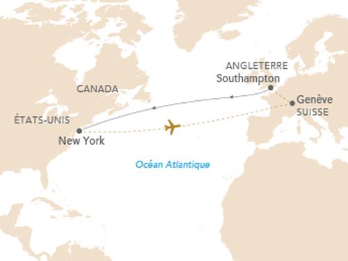 Itinéraire de Croisière Queen Mary 2 départ de Genève