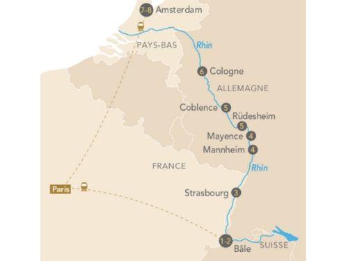 Itinéraire de La croisière Rustica