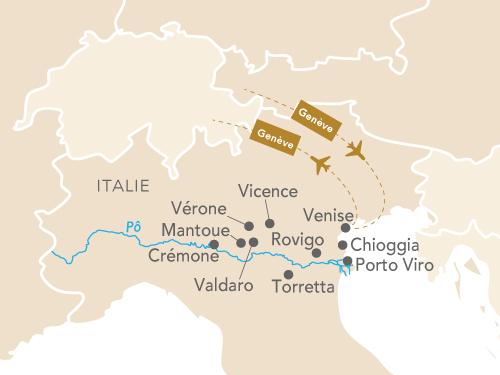 Itinéraire de Venise musicale et la vallée du Pô au départ de Genève