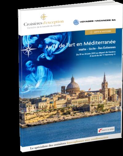 Brochure Au fil de l'art en Méditerranée : Malte - Sicile - Îles Éoliennes, au départ de Genève 3D