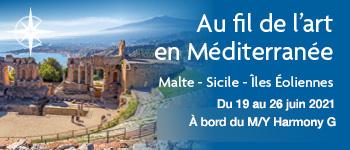 Embarquez avec Croisières d'exception pour un splendide voyage sous le signe de l'art, de La Valette à Catane, au départ de Genève