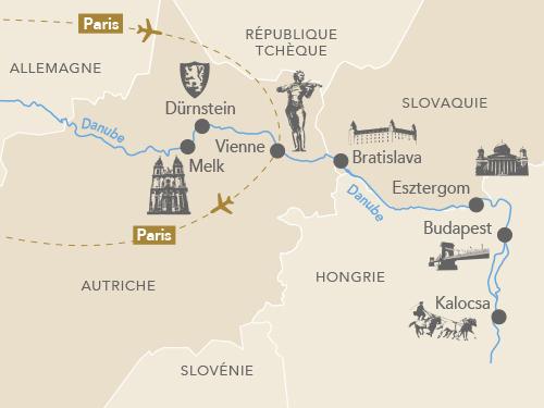 Itinéraire de Au fil du Danube avec Des Racines et des Ailes