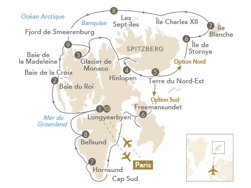 Itinéraire de Voyage au Spitzberg, sublime Terre des ours