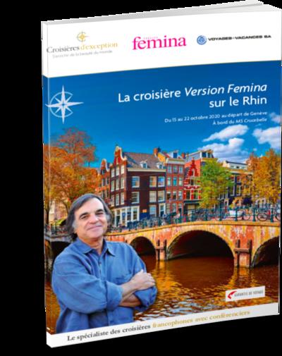 La croisière Version Femina sur le Rhin au départ de Genève