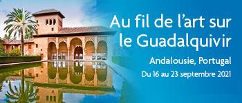 Embarquez pour la croisière au fil de l'art sur le Guadalquivir, découvrez l'Andalousie et le Portugal au cours d'un voyage chargé d'histoire. Départ Bruxelles