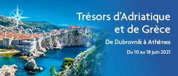 Embarquez avec Croisières d'exception pour un somptueux voyage à la découverte des joyaux de la mer Adriatique et Ionienne. Au départ de Bruxelles