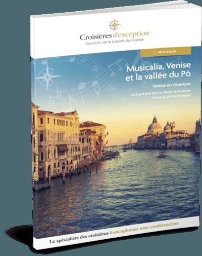 Brochure Musicalia, Venise et la vallée du Pô au départ de Bruxelles 3D