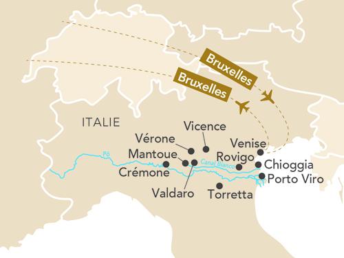 Itinéraire de Musicalia, Venise et la vallée du Pô au départ de Bruxelles