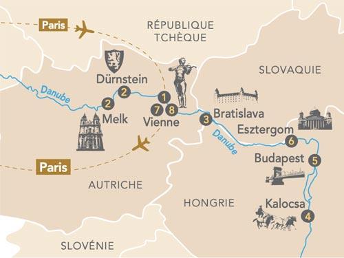Itinéraire de Merveilles du Danube