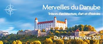 Naviguez sur le Danube avec Croisières d'exception, en compagnie de Jean-Paul Bled (historien) et de Serge Legat (historien de l'art). Départ Bruxelles