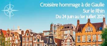 Croisières d'exception vous propose d'embarquer pour une passionnante croisière avec conférenciers qui rend hommage au général de Gaulle. Départ juin 2021