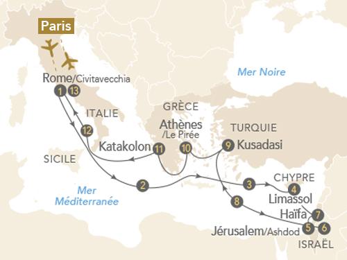 Itinéraire de Merveilles des civilisations en Méditerranée