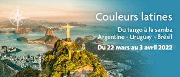 Direction le Brésil, l'Argentine et l'Uruguay à bord de notre croisière aux couleurs latines avec un accompagnement francophone et des conférences captivantes