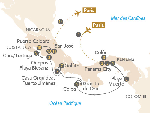 Itinéraire de Panama, Costa Rica