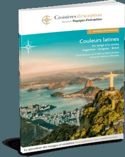 """Brochure Croisière """"Couleurs latines : Argentine-Uruguay-Brésil"""" au départ de Bruxelles 3D"""