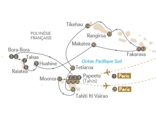 Itinéraire de Polynésie, archipel paradisiaque au cœur du Pacifique