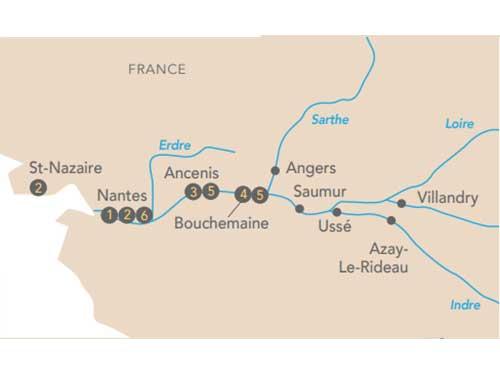 Itinéraire de Croisière au fil de la Loire avec Franck Ferrand