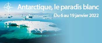 Embarquez pour la croisière Antarctique et vivez l'expérience d'une véritable navigation polaire avec une équipe francophone. Départ Genève