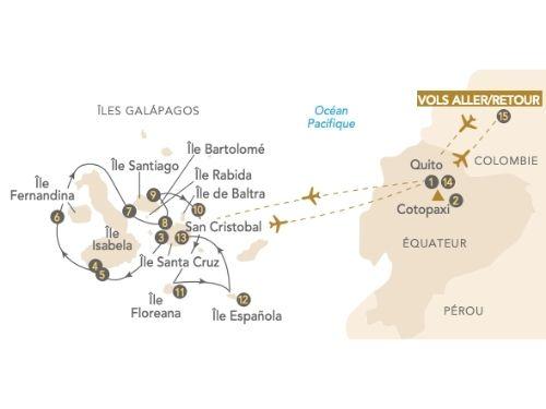 Itinéraire de Galápagos, le paradis terrestre, au départ de Genève