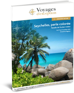 Brochure Seychelles, perle colorée : départ Genève 3D