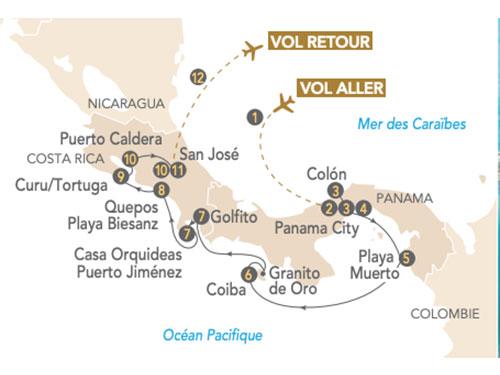 Itinéraire de Panama, Costa Rica en croisière