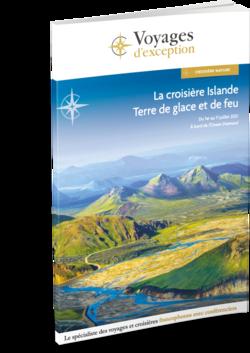 Brochure La croisière Islande, terre de glace et de feu, au départ de Genève 3D