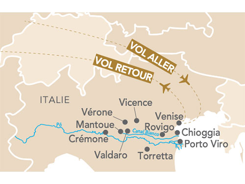Itinéraire de Musicale, Venise et la vallée du Pô