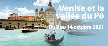 En octobre 2021, embarquez en musique à Venise et profitez d'un plateau artistique exceptionnel. Au départ de Genève