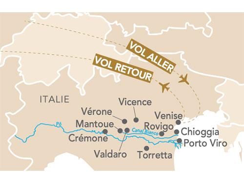 Itinéraire de Musicale, Venise et vallée du Pô