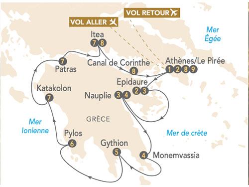 Itinéraire de Péloponnèse, à la découverte de la Grèce antique