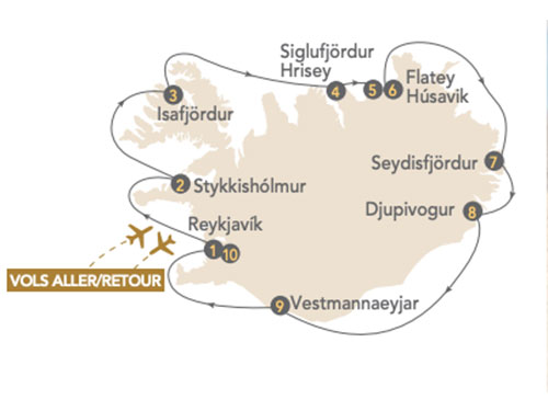 Itinéraire de Croisière Islande en Terre de glace & de Feu