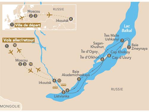 Itinéraire de Croisière sur le lac Baïkal, la perle de la Sibérie