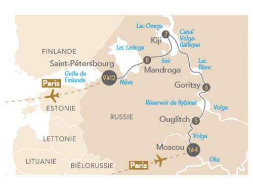 Itinéraire de Russie éternelle, splendeurs de Moscou et de Saint-Pétersbourg