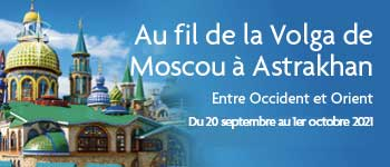 Voyages d'exception vous propose un magnifique voyage à bord du MS Rossia, le long de la Volga, entre Occident et Orient au départ de Genève