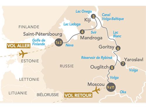 Itinéraire de Regards sur la Russie de Saint-Pétersbourg à Moscou avec Paris Match