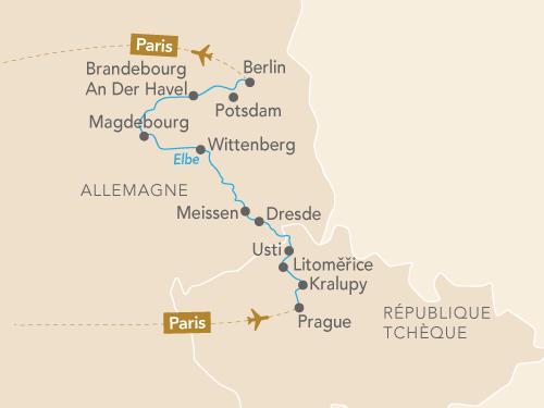 Itinéraire de L'Elbe et le Moldau en musique : de Prague à Berlin