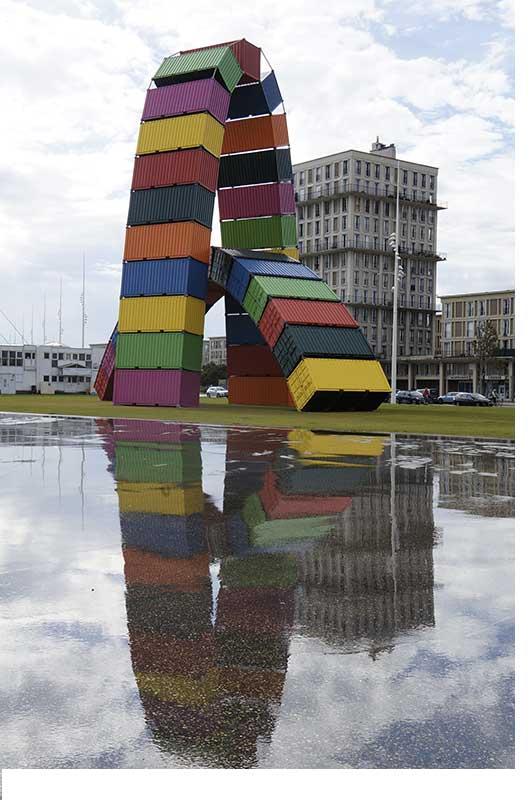 Art contemporain dans la ville du Havre