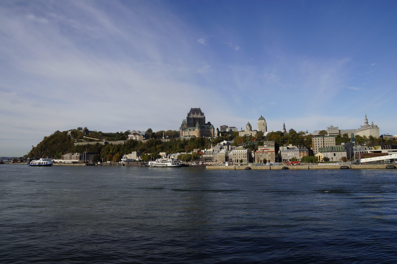 Vue de Québec depuis la mer