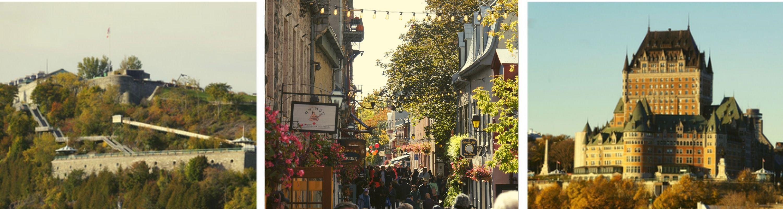Les différents quartiers de la ville de Québec