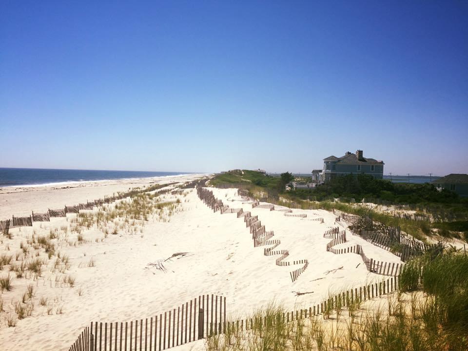 Vue sur la plage des Hamptons