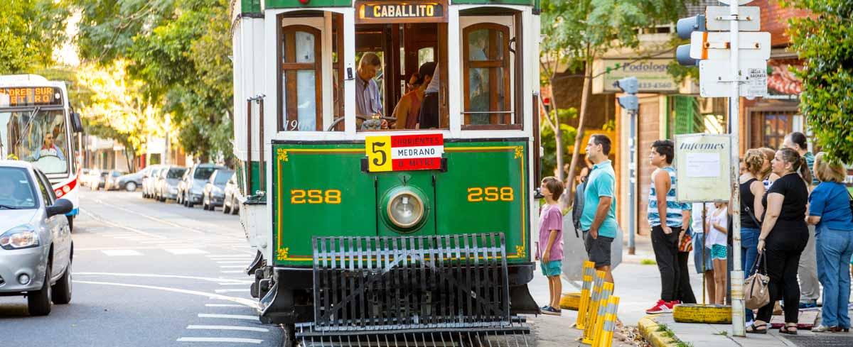 Tramway et transports en commun à Buenos Aires