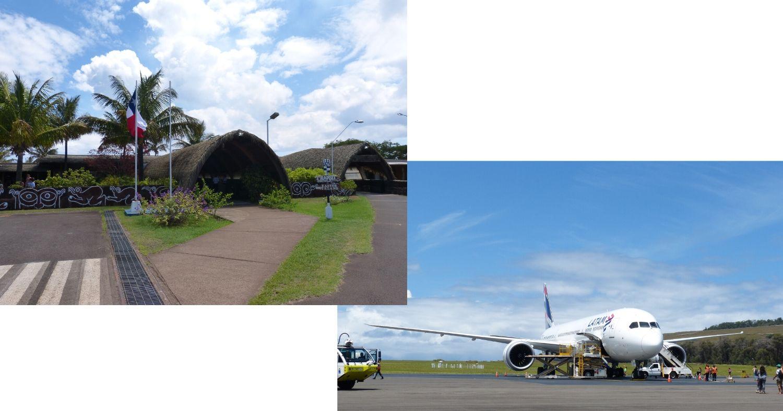 Arrivée à l'aéroport de l'Île de Pâques