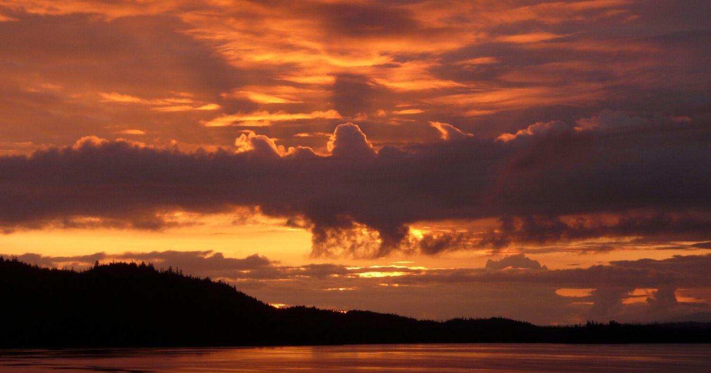 Alaska, coucher de soleil
