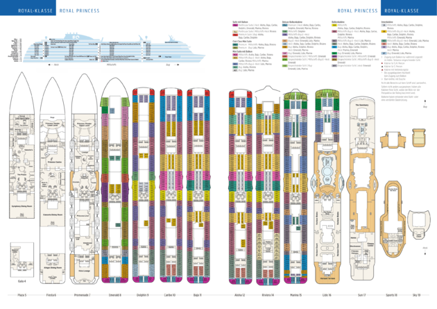 Plan du Le Royal Princess