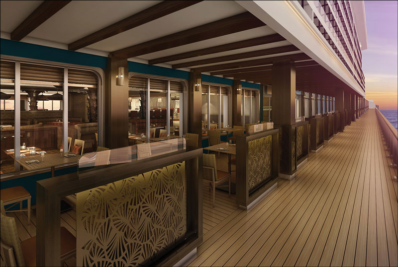 Restaurant-terrasse sur le Norwegian Escape